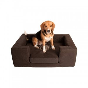 Lord Lou sofa S, brown, met extra hoes in beige