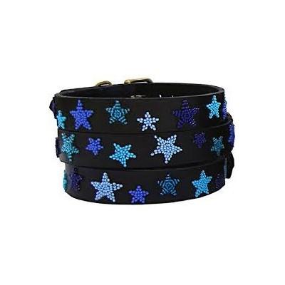Kralen halsband Indigo Star (31 t/m 36 cm)