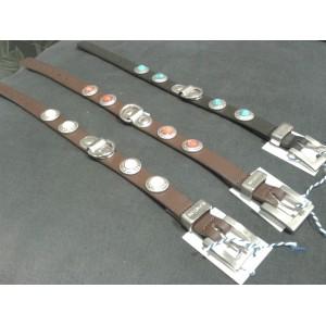 Zurich halsbanden, bruin/wit (40 cm)