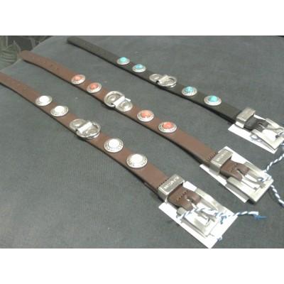 Zurich halsbanden, bruin/wit