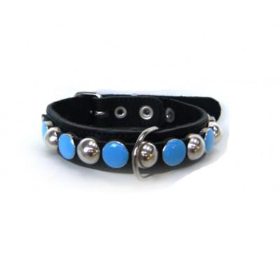 Neon halsband, blauw (35 t/m 45 cm)