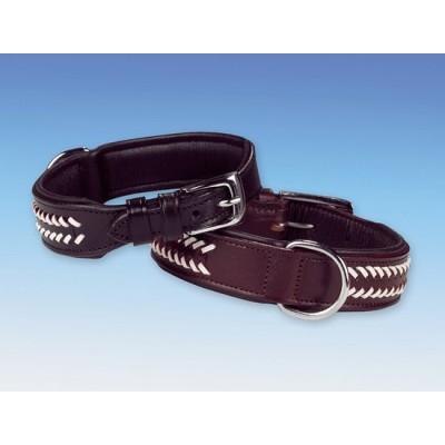 Halsband zwart/wit ( 40 en 45 cm)